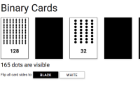 Binary cards interactive