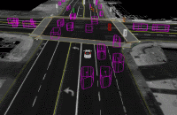 Driverless car sees the road video